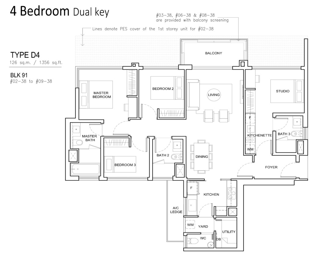 4 Bedroom dual key in Jewel at Buangkok